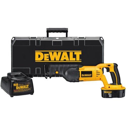 18v Cordless Wood Saw (DEWALT DC385K 18-Volt Ni-Cad Cordless Reciprocating Saw Kit)