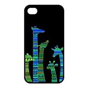 diy zhengColorful Tribal Giraffe Protective Rubber Back Fits Cover Case for Ipod Touch 5 5th