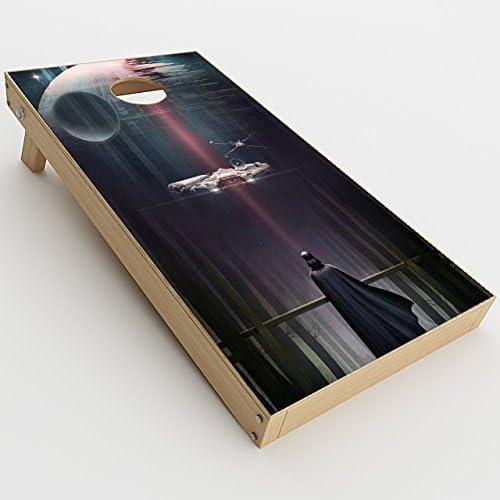 CUSTOM Geek Star Wars//Trek Cornhole Board Skin Wrap Decal SET LAMINATED