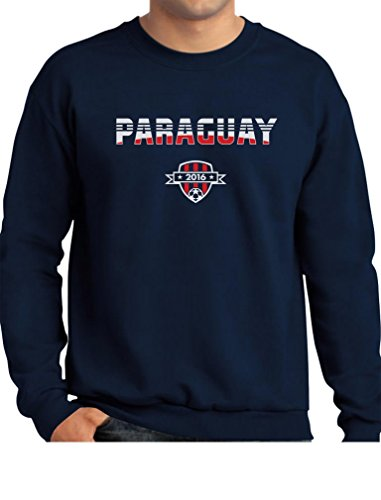 TeeStars - Paraguay National Soccer Team 2016 Paraguayan Fans Sweatshirt XX-Large Navy ()
