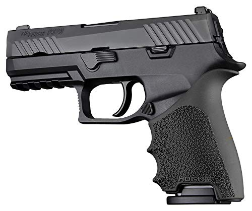 Hogue, HandAll Beavertail, Enhanced Grip/Sleeve, 17610 Black, Compatible with The Sig Sauer P320C 9/40.