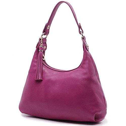 Purple Bag Handbag with Womens SEALINF Hobo Crossbody Leather Shoulder Tote Tassel qpPIvt