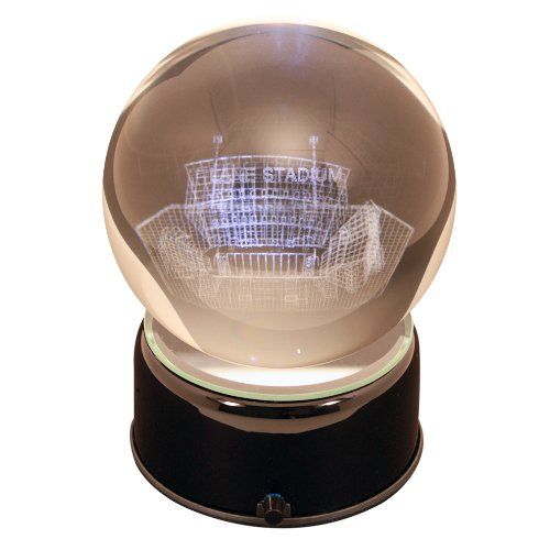 Sports Collector's Guild NCAA Virginia Tech Hokies Lane Stadium Etched Lit Musical Turning Crystal Ball