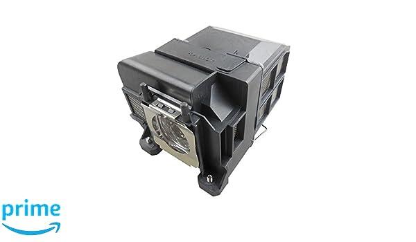 Adecuada para EB-1940W EB-1965 PowerLite 1940W 1945W EB-1960 Supermait EP75 L/ámpara de Repuesto para proyector con Carcasa EB-1955 Compatible con Elplp75 EB-1950 EB-1945W