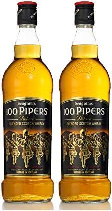 Whisky 100 Pipers de 70 cl - D.O. Escocia - Bodegas Osborne (Pack de 2 botellas)