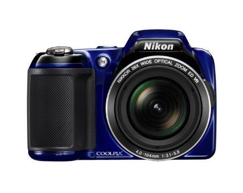 - Nikon COOLPIX L810 16.1 MP Digital Camera with 26x Zoom NIKKOR ED Glass Lens and 3-inch LCD (Blue)