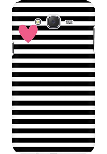 best cheap 4b035 6a697 ARCase AMEZ Black and White Stripes Pink Heart Back Cover for Samsung  Galaxy J7