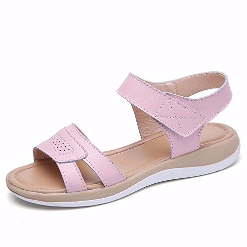 Code 38 Ladies' Codice Fondo Estate In Europeo Bianco Pantofola 39 BTBTAV Outdoor Con Pantofole Pelle Piatto European Pink wBZq5ad