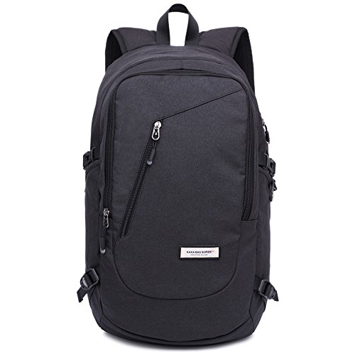 KAKA Classic Travel Backpack Laptop Backpack for 15 inch Laptop Black ()