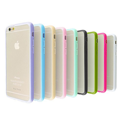 iPhone 6 Case, 9 Pack Ace Teah Thin Slim Hard Back Cover PC with Enhanced Rubberized Grip TPU Scratch Proof for Apple iPhone 6 6S (Purple, Green, Blue, Pink, Beige, Black, Peach, White, Blue, Olive)