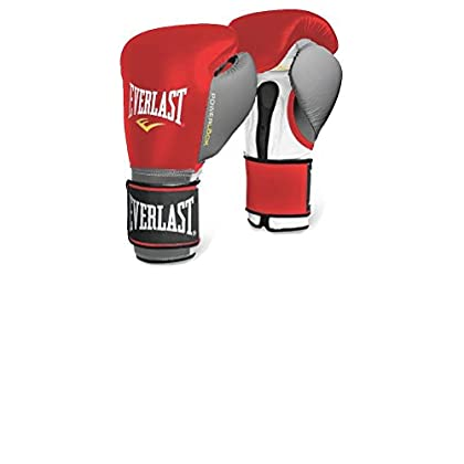 Image of Boxing Everlast 2200656 Powerlock Training Gloves (Hook & Loop) Red/Grey 14 0Z
