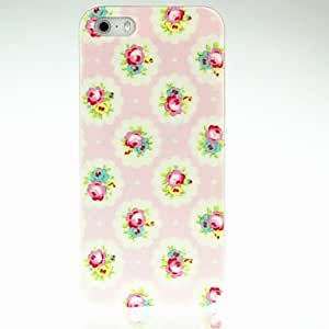 GONGXI Flowers in Pink Back PC Case for iPhone 5/5S