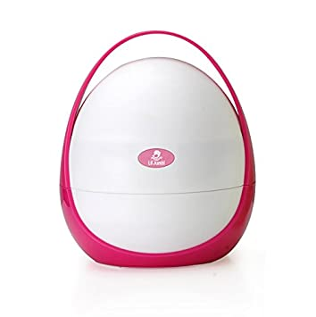 lilu0027 jumbl portable toddler travel potty essential storage compartment pink