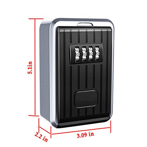 Key Lock Box Wall Mount Key Lock Box 4-digit Combination Key Storage Lock Box Weatherproof For Outdoor Indoor Kleidung & Accessoires