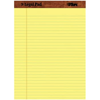 Amazon.com : TOPS The Legal Pad Legal Pad, 8-1/2 x 11-3/4 Inches ...