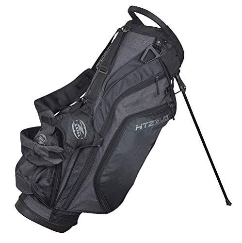 Hot-Z Designer Series 3.0 Stand Bag Black/Grey (Best Carry Golf Bag With 14 Dividers)