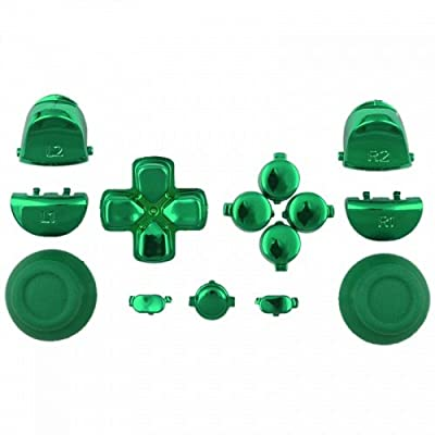Mod Freakz Button Set Dpad Share Chrome Green For PS4 Gen 1 Controllers ONLY by Donaldson's