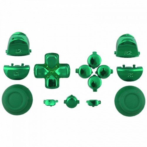ModFreakz™ Button Set Dpad Share Chrome Green For PS4 Gen 1,2 V1 Controller