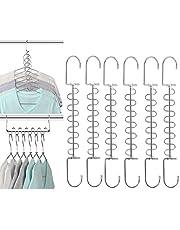 XUANSHUO Space Saving Hangers Metal Magic Hangers Closet Space Saving Wardrobe Clothing Hanger Oragnizer…