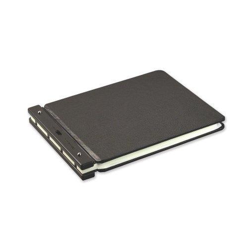 Raven Vinyl-Guarded Post Binder, 9-1/4 x 11-7/8, 7-1/8 C To C, Black