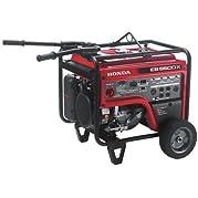 Honda 660580 6,500 Watt Industrial Portable Generator with iAVR Technology