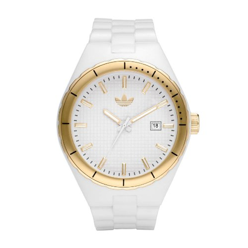 adidas Originals ADH2125 - Reloj analógico de cuarzo para mujer con correa de caucho, color blanco: Amazon.es: Relojes