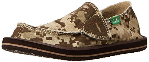 Sanuk Vagabond Shoe - Toddler Boys' Brown Digi Camo, 12.0