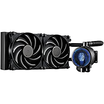 MasterLiquid Pro 240 All-In-One (AIO) Liquid Cooler with FlowOp Technology, Dual Chamber Design and MasterFan Pro Radiator Fans