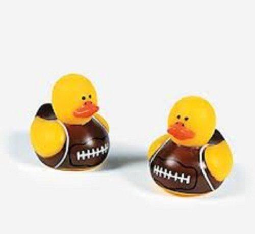 Price comparison product image 72 Vinyl Mini Football Rubber Duckies