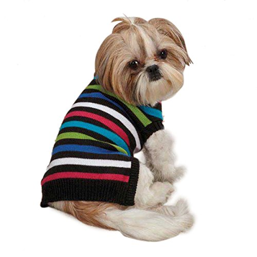 East Side Collection ZM3756 20 85 Electric Knit Sweater for Dogs, Large, Stripes Review