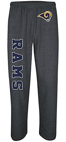 St Louis Rams NFL Critical Victory Mens Charcoal Sweatpants Big & Tall SIzes (4XL)