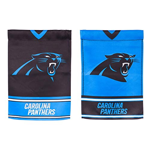 Team Sports America Carolina Panthers Double Sided Jersey Suede Garden Flag, 12.5 x 18 inches