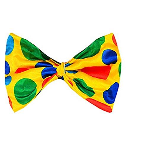 Amscan Goofy & Fun Costume Party Clown Bow Tie, Multicolor, 13