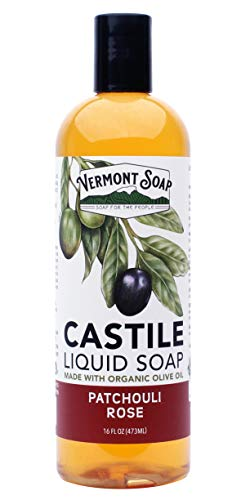 Vermont Soap Liquid Castile Soap (Patchouli Rose, 16oz) Castile Liquid Soap Rose