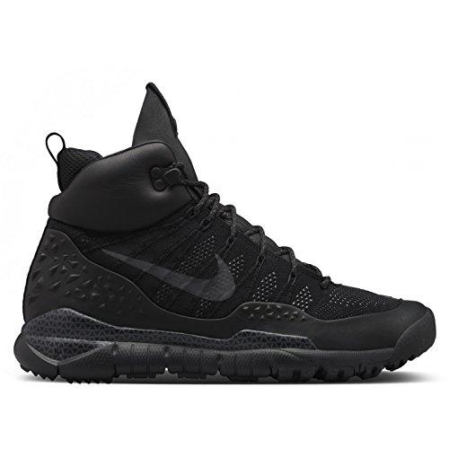 Nike Lupinek Flyknit Acg, Zapatillas de Deporte Para Hombre Negro / Gris (Black / Black-Anthracite)
