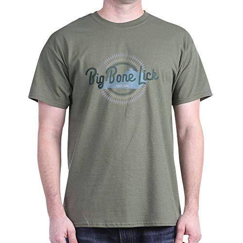CafePress Big Bone Lick State Park T Shirt 100% Cotton T-Shirt Military Green