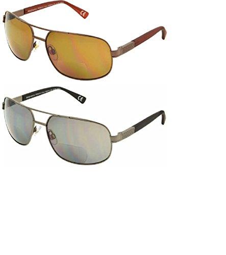 Design Optics Bifocal Men Women Reading Sunglasses ( 2-PACK ) ( +1.50 - Design Optics Sunglasses