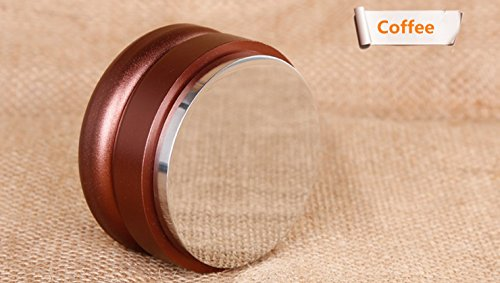 SMKF Adjustable Coffee Distributor/Leveler Tool - Palm Tamper for Espresso - 58mm - Flat (Gold) by SMKF
