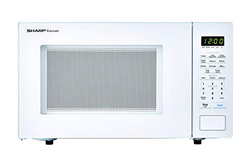SHARP ZSMC1131CW Carousel 1.1 Cu. Ft. 1000W Countertop Microwave Oven in White (ISTA 6 Packaging) Cubic Foot 1000 Watts (Renewed) (Mid Sized Microwave Oven)