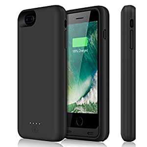 iPhone 8 Plus Battery Case 11000mAh YISHDA Portable Extended Backup Battery Charging Case Rechargeable Protective Power Case Juice Pack Bank Cover for iPhone 8 Plus / 7 Plus [5.5Inch]