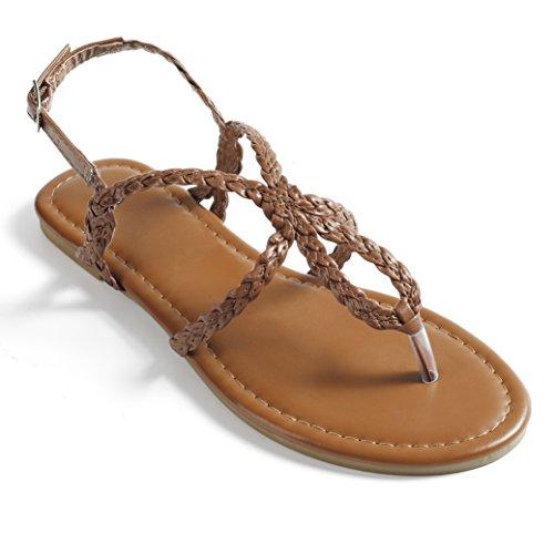 Fasehold Flat Sandals Braided Strap B07C1WTFDW Tong Sandal for Women B07C1WTFDW Strap Parent 35f72c