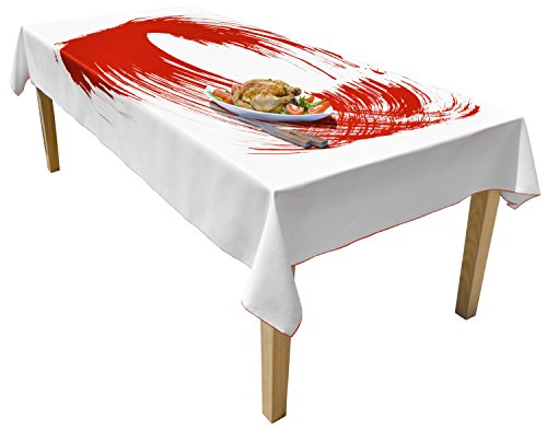 BottleCloth Free Flow Premium Tablecloth - Superior Quality, Easy Clean, Spill Resistant, and Washable. Made from 100% Recycled Materials. Assorted colors and sizes. (60