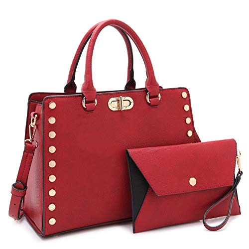 (Dasein Purses and Handbags for Women Satchel Bags Top Handle Shoulder Bag Work Tote Bag With Matching Wallet)