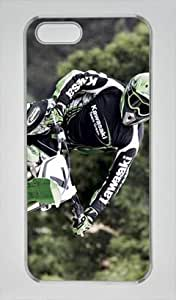 E-luckiycase PC Hard Shell Cool Motocross 9 with Transprent Skin Edges for Iphone 5 5s Case