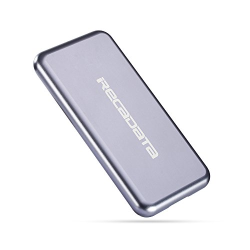 iRecadata M30 Portable SSD, 512G Mini External Solid State Drive with Encryption Function, USB 3.0, mSATA III MLC SSD Built-in, Gray by irecadata (Image #2)