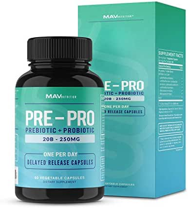 Probiotics & Prebiotics - Digestive Enzymes Support, Vegetarian Friendly for Women & Men, NON-GMO 60 Count