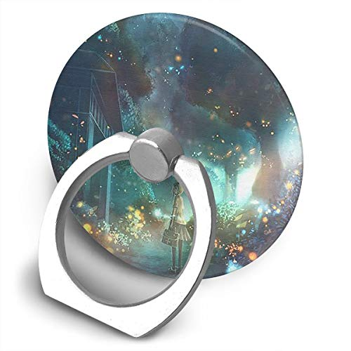 Yidafunp JUSTFORU Fireflies and Girls Cell Phone Ring Stand Holder 360 Degree Rotation Car Mount Phone Finger Stand for Almost All Phones and Cases