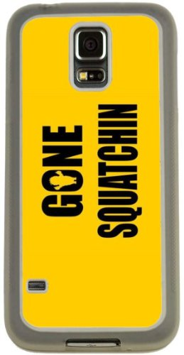 Rikki Knight Gone Squatchin on Yellow Design Case (Clear TPU) for Samsung Galaxy S5