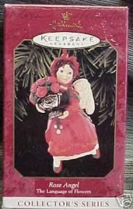 Hallmark Keepsake Christmas Ornament Rose Angel 1999, The Language Of Flowers
