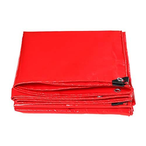 Tarpaulin Fashion capital Rote Plane Wasserdichte Sonnencreme Verdickung LKW-Plane Wasserdichtes Tuch Plane 500g Messer kratzen Tuch regendicht Wind Tuch